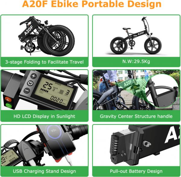 Ado A20F 500w Folding Electric Bike catalogue image