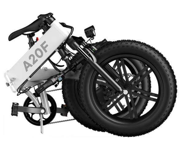 Ado A20F 500w Folding Electric Bike shown in folded form